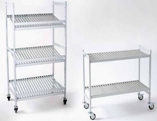 aluminium mobile shelving